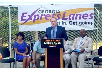 Georgia DOT officials kick off I-85 express lane expansion
