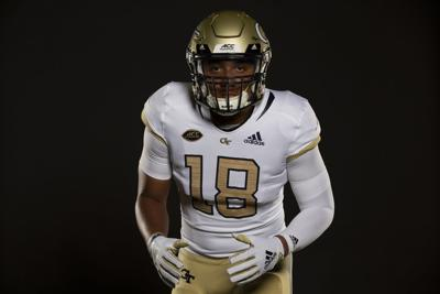 28ac9969bc4 Georgia Tech and Adidas revealed the Yellow Jackets  2018 football uniforms  on Friday evening. (Credit  Georgia Tech Athletics Karl Moore)