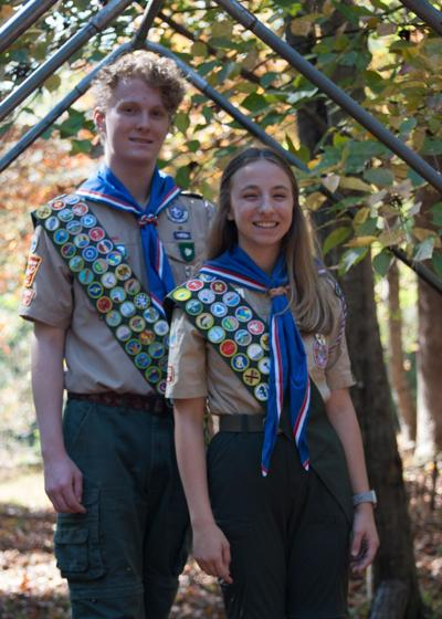 PHOTOS: Mother-daughter duo blaze the trail for female Eagle Scouts
