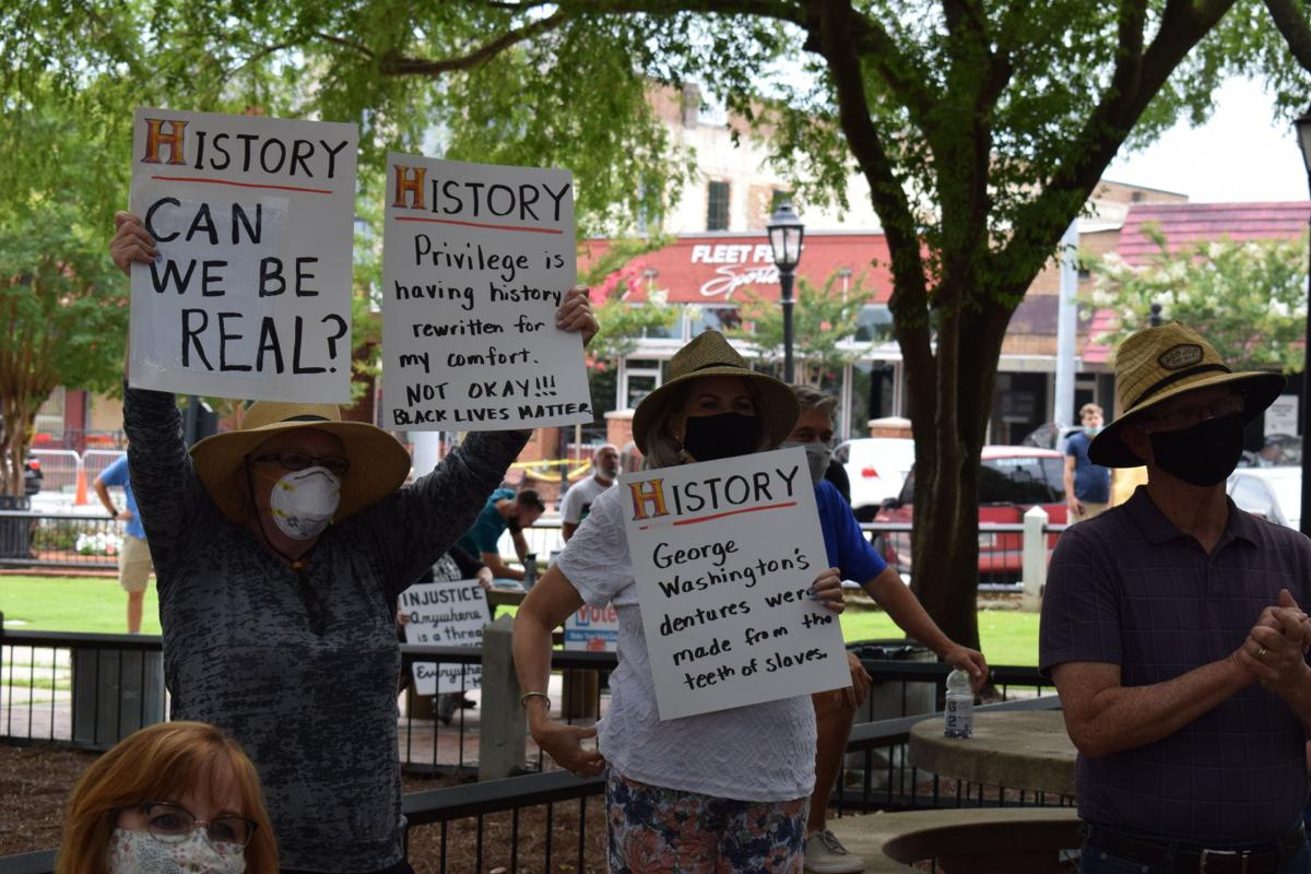 Confederate Monument protest sign holders