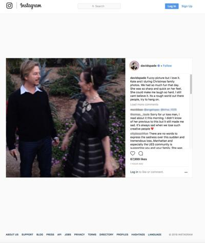 David Spade mourns sister-in-law Kate Spade: 'I still can't