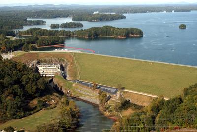 Buford Dam  aerial 2 file photo