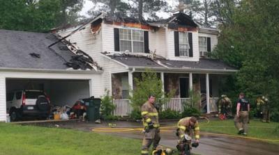 GCPS Teacher's home destroyed by lightning