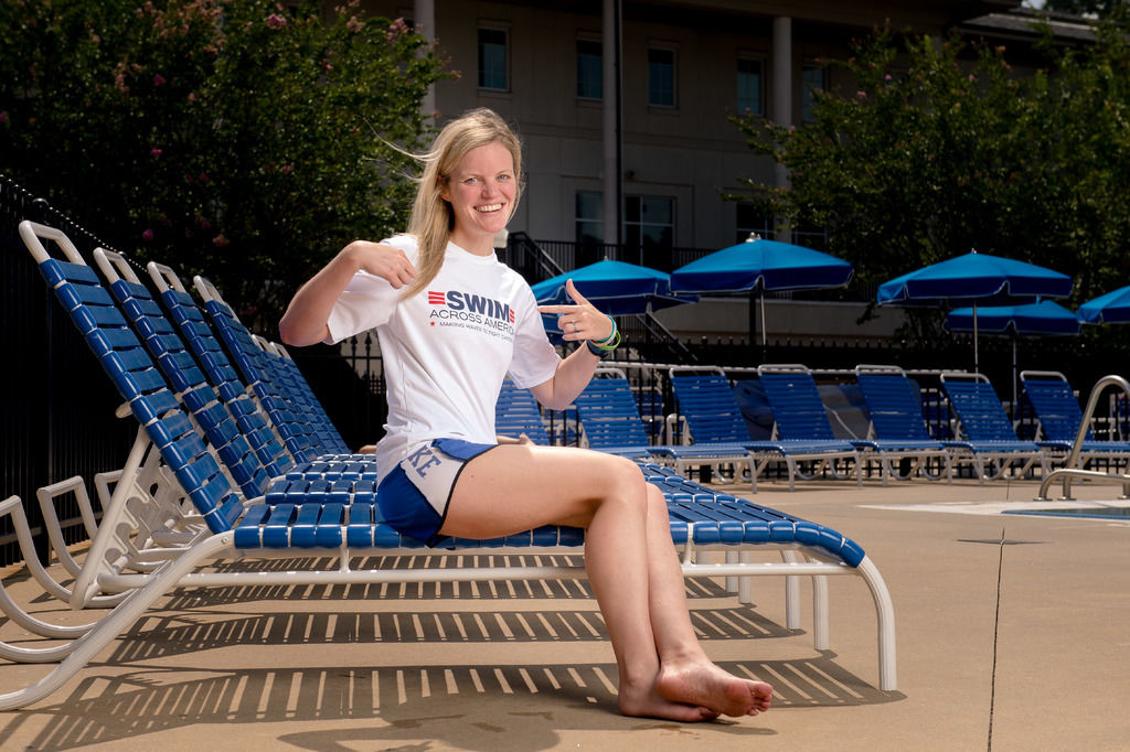 Duluth grad Julie Granger fights off own cancer to compete in Swim Across America