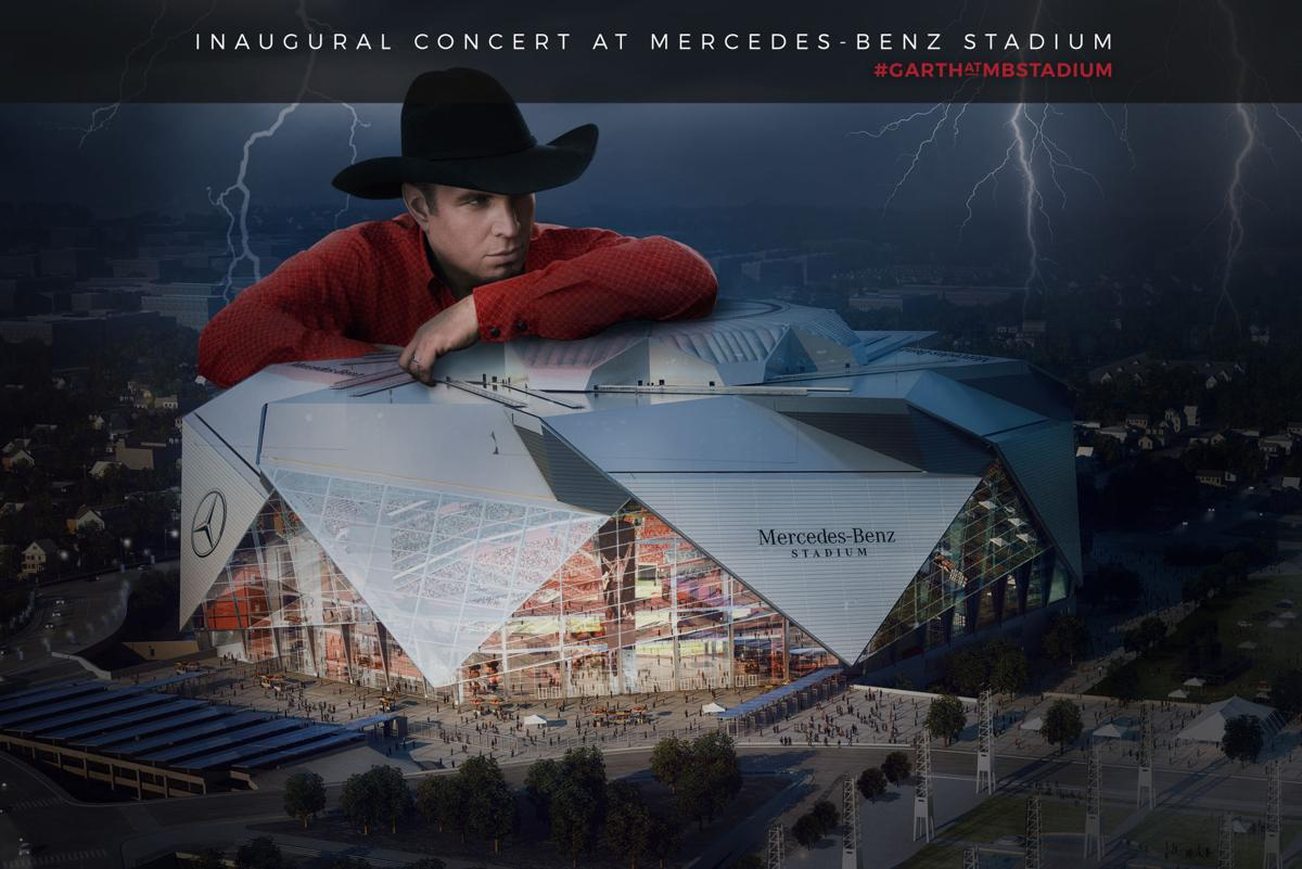 garth brooks to headline first ever concert in mercedes