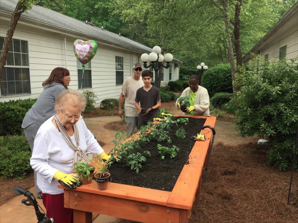 Boy Pursuing Eagle Scout Rank Builds Garden For Assisted Living Facility Multimedia
