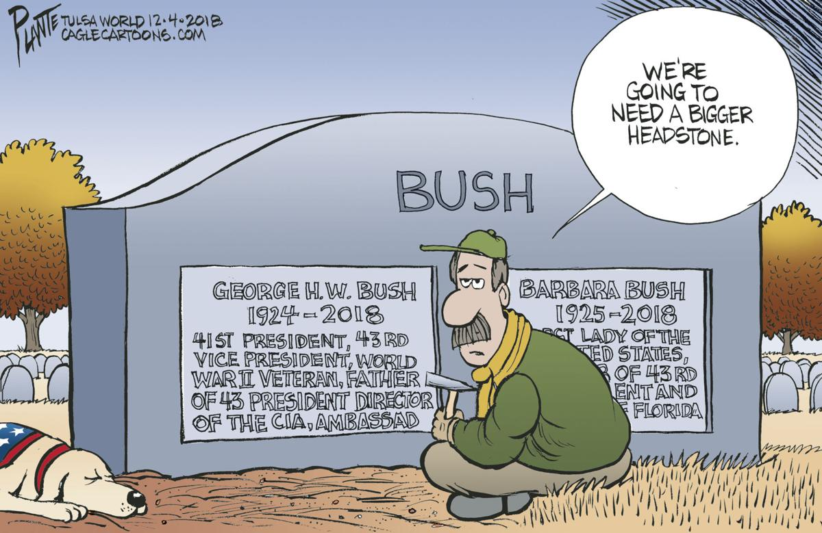 Bruce Plante Cartoon President George H W Bush