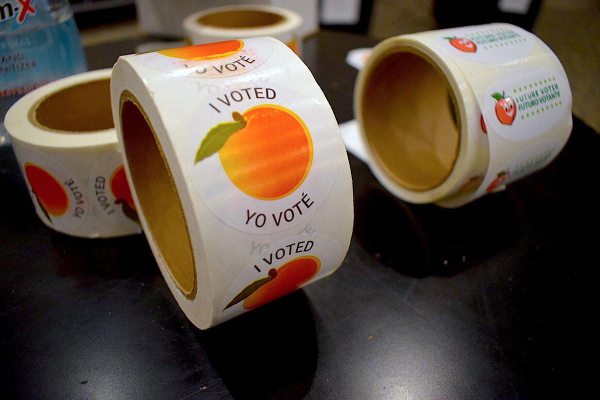 I Voted Yo Vote stickers file photo