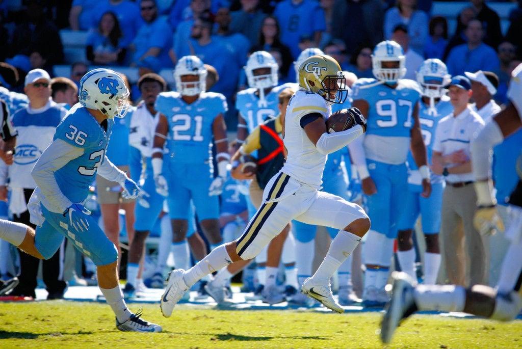 No. 21 North Carolina, Hood run over Georgia Tech