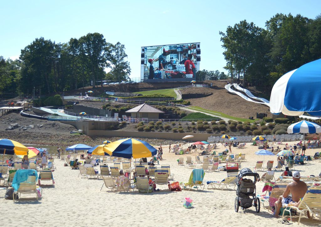 Football Fans Tailgate In The Sand On Lanier Islands