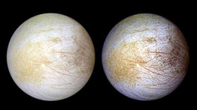 The ocean on Jupiter's moon Europa has table salt, just like Earth's seas