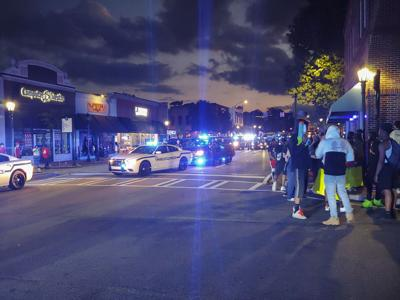 Scenes from Lawrenceville protest Sunday night, May 31, 2020
