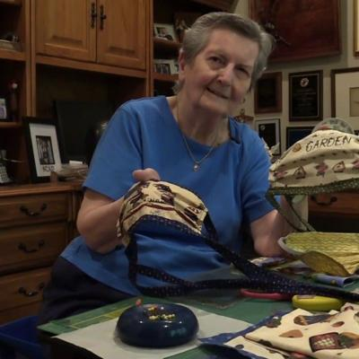 WATCH: Village Park resident sews more than 100 masks for community