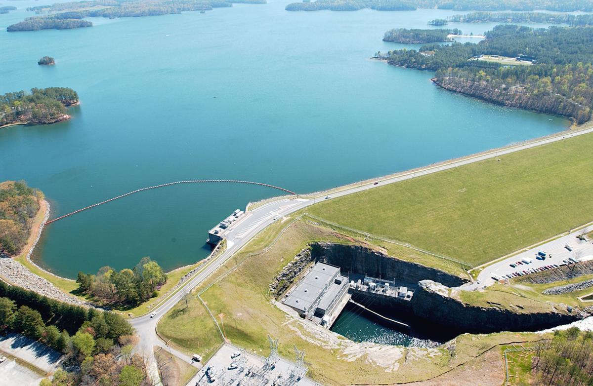 Lake Lanier Buford Dam aerial