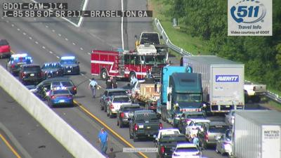 Accident on I-85 in Braselton area shuts down interstate
