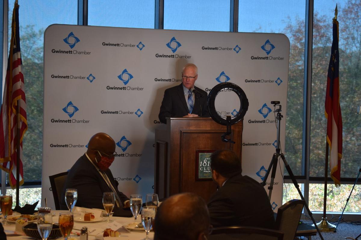Russell McMurry addressing Gwinnett Chamber