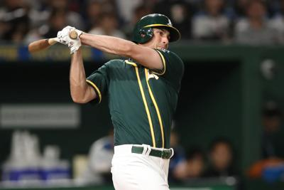MLB: Spring Training-Oakland Athletics  at Yomiuri Giants
