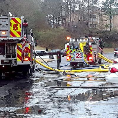 Fifteen units damaged or destroyed by blaze at apartment complex near Lawrenceville