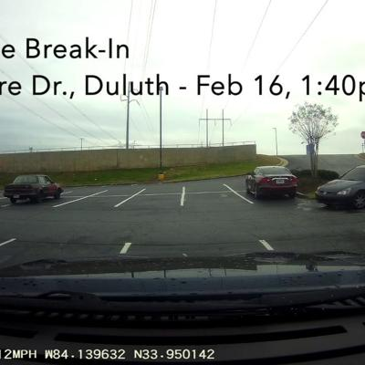 WATCH: Unknown suspect caught on dash-camera during Duluth vehicle break-in