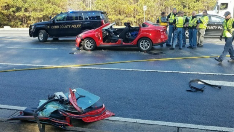 A crossing guard at a Cobb County middle school was struck and killed while directing traffic Thursday morning. (Photo: FOX 5 Atlanta)