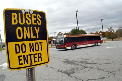 Bus at Gwinnett transit transfer center file photo
