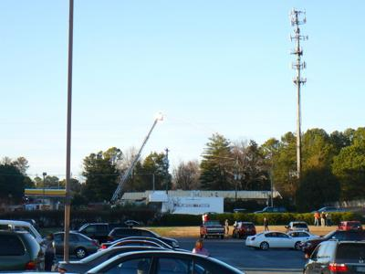 Cell tower fire closes Rockbridge Road, evacuates day care