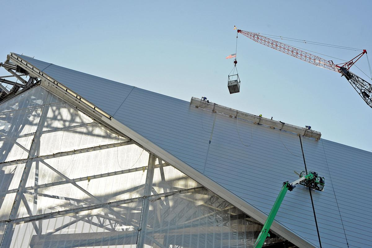 A look at the progress of mercedes benz stadium for Mercedes benz of gwinnett