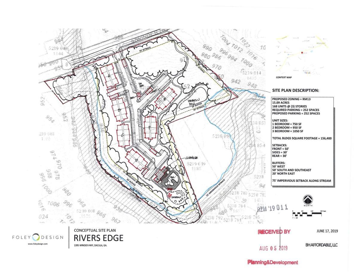 Rivers Edge apartment on Winder Highway site plan.jpg