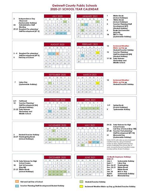 Gwinnett County Schools Calendar 2022.Gcps Calendar Jpg Gwinnettdailypost Com