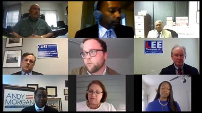Chairman candidates at online forum.jpg