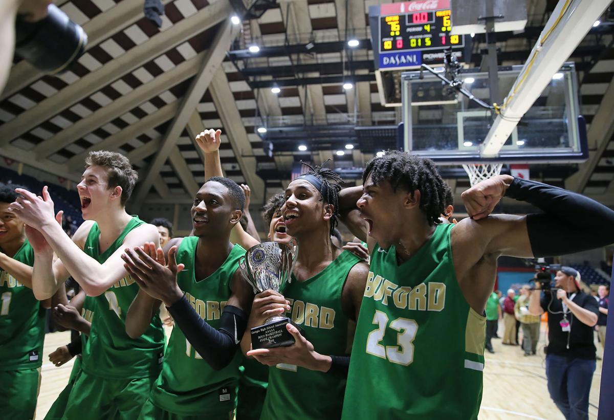 Senior-laden Buford boys basketball team wins head coach Eddie Martin's ninth state title