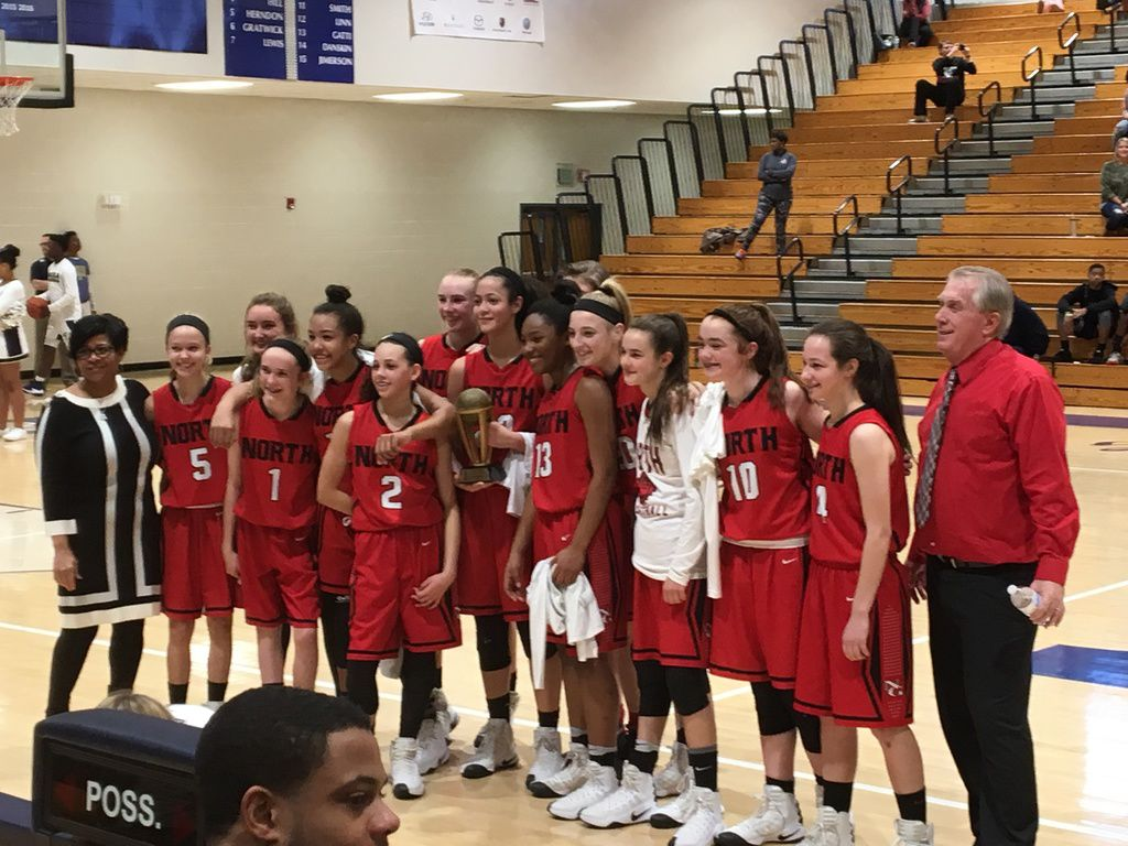 north gwinnett middle girls win division title