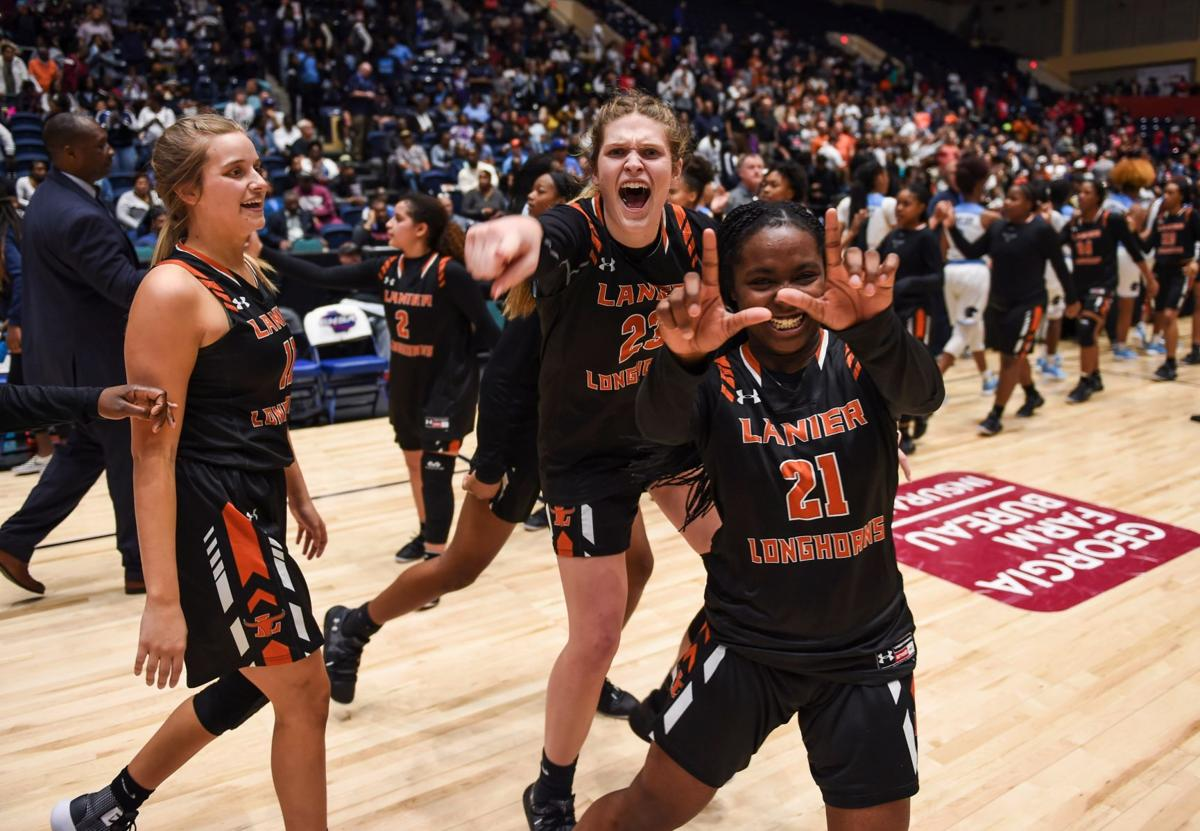 Determined Lanier girls rally to claim school's first state title in any sport