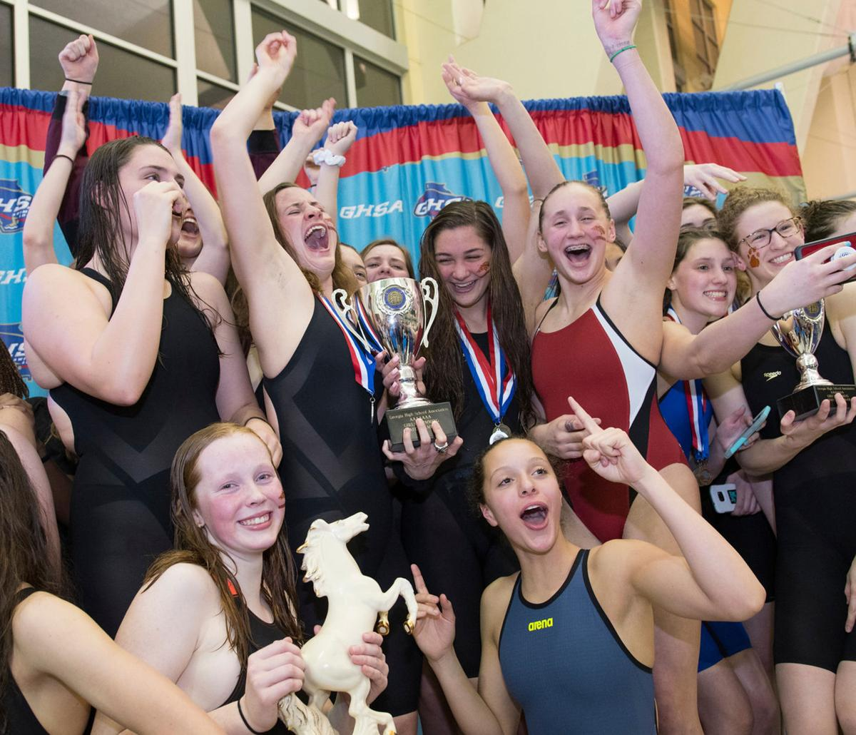 Brookwood boys, girls dominate AAAAAAA for second straight year at state swimming