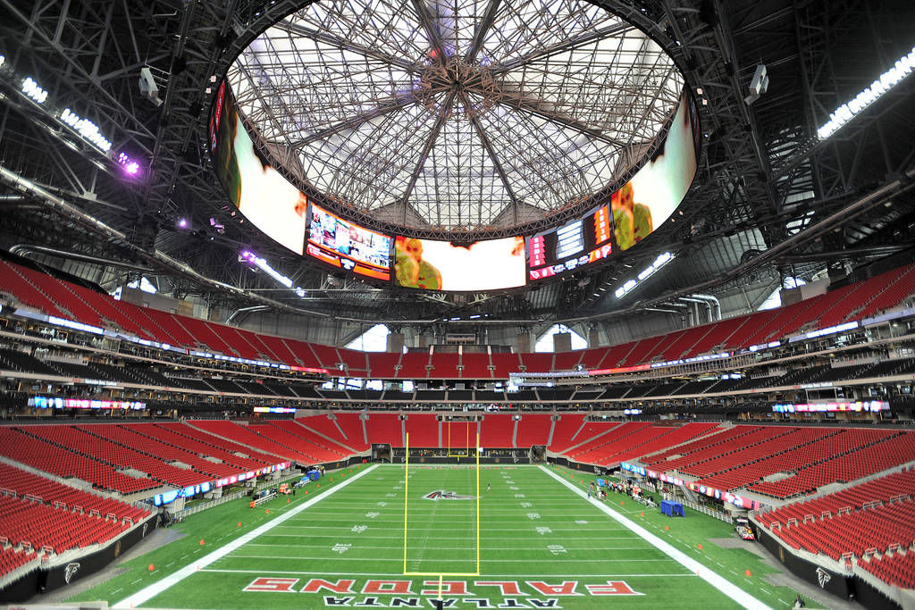 North gwinnett 39 s state title football game at mercedes for Mercedes benz stadium atlanta capacity
