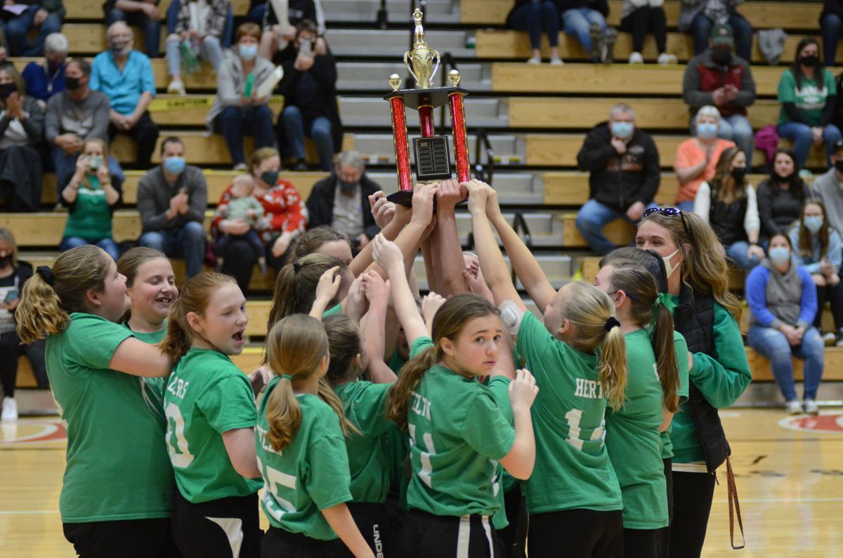 Roanoke girls basketball take home title
