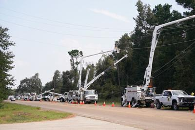Entergy gets service to 75 percent of local customers
