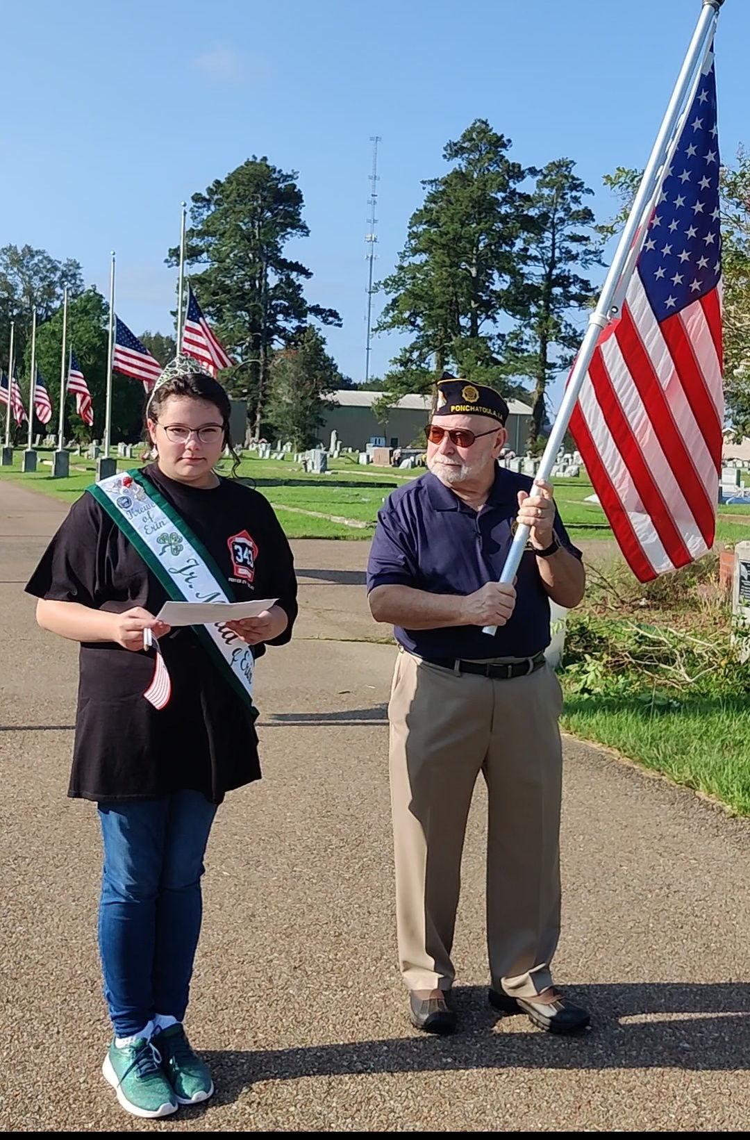 Erin joins Post 47 in flag waving event