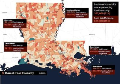 1 in 5 rural Louisiana households lack sufficient food