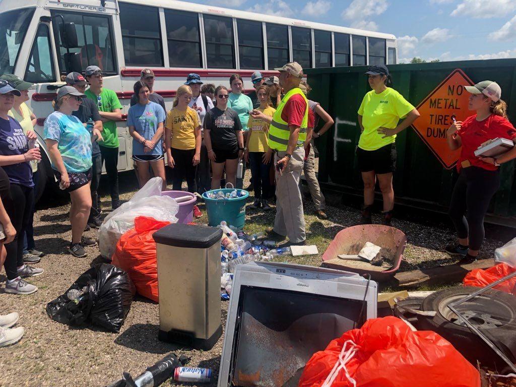 Volunteers clear trash in Manchac