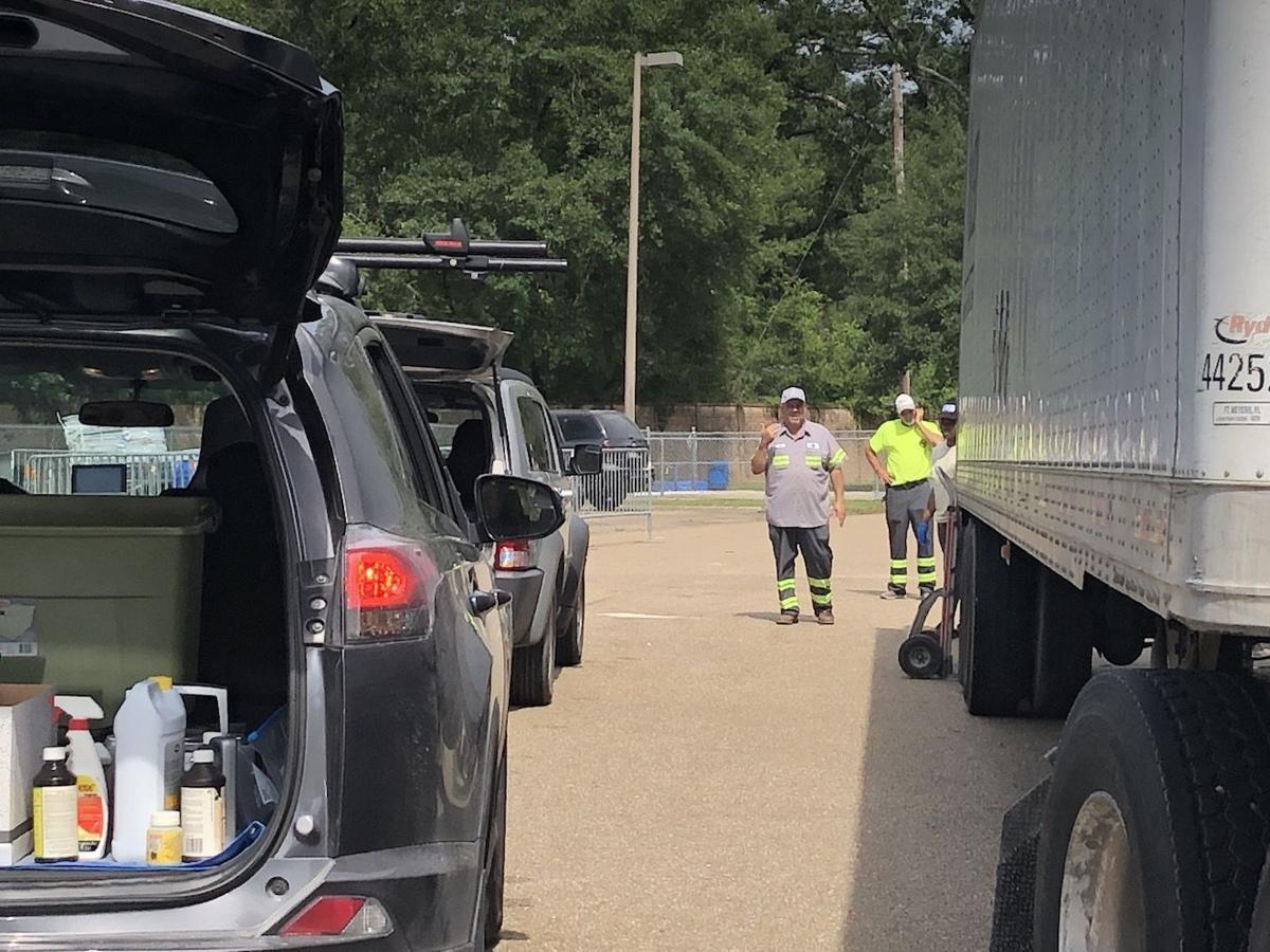 Hundreds bring hazardous waste