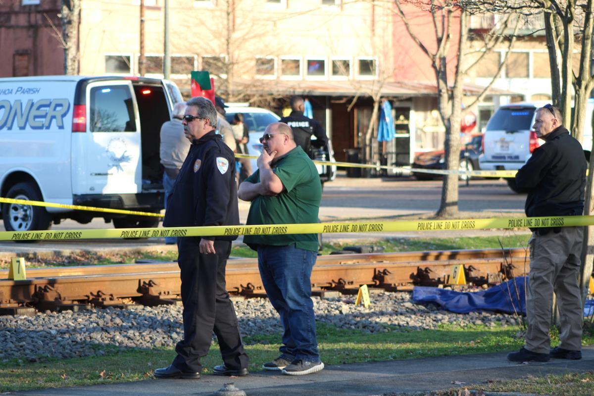 Pedestrian killed on tracks