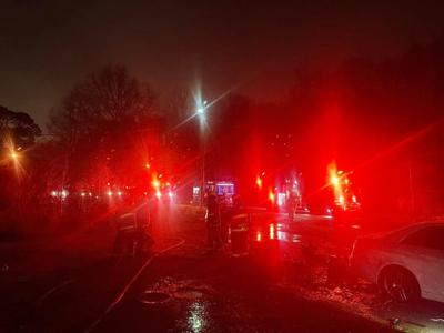 Fire damages mobile home at edge of city