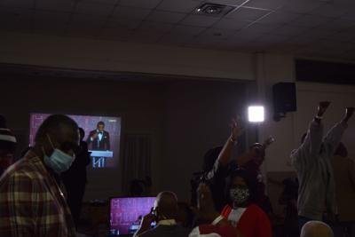 DeVonta on a big screen at the Amite Community Center