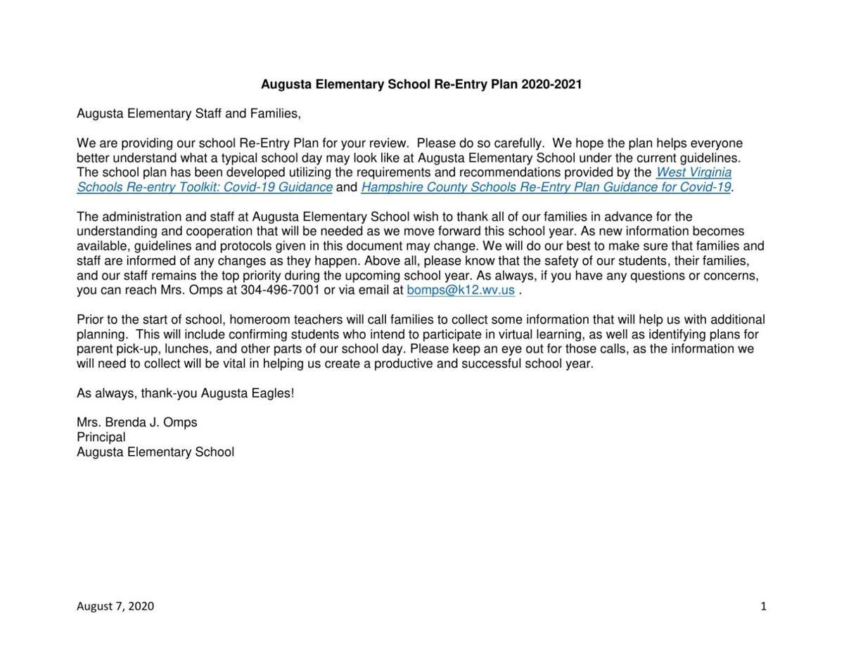 Augusta Elementary Back-to-School Plan