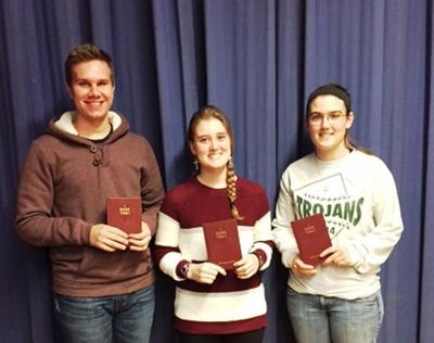 Corbin, Draper and Reynolds recognized with national 4-H awards