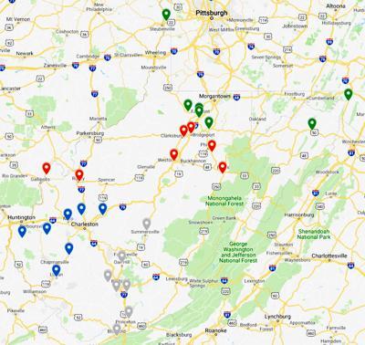 Regional mock map