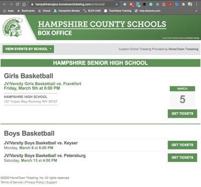 Hampshire Trojan Box Office Tickets