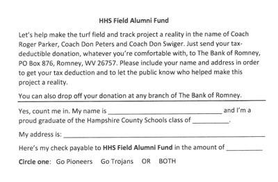 HHS Field Alumni Fund Form