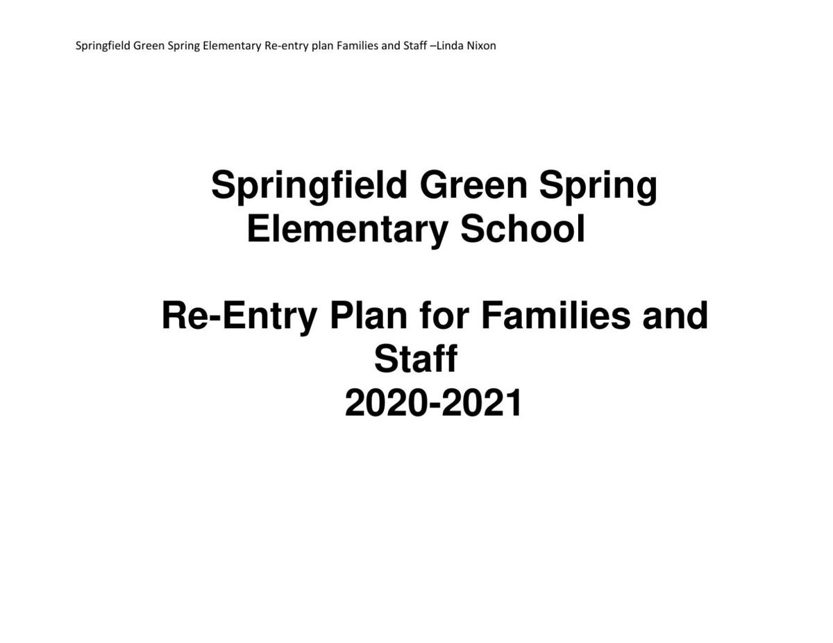 Springfield Green Spring Elementary Back-to-School Plan